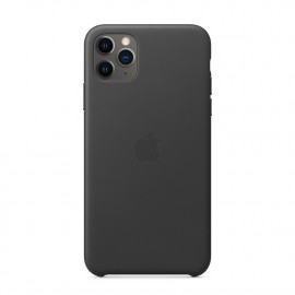 11 Pro Max Leather Case Black
