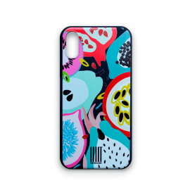 cases-iphonex-tropical-fruits-matte-black