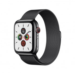 Apple Watch S5 44 mm Space Black Stainless Steel Case with Milanese Loop