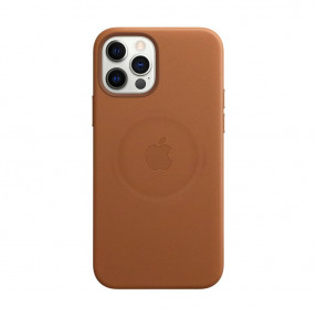 Leather Case High copy with MagSafe iPhone 12/12 Pro Saddle Brown