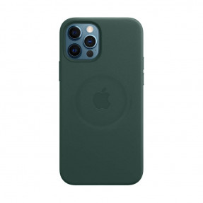 Leather Case High copy with MagSafe iPhone 12/12 Pro Forest Green