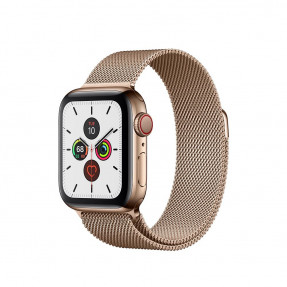 Apple Watch S5 40 mm Gold Stainless Steel Case with Milanese Loop