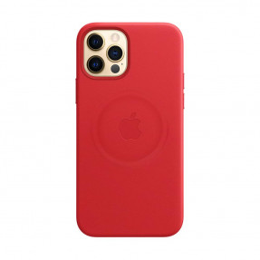 Leather Case High copy with MagSafe iPhone 12/12 Pro Red