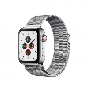 Apple Watch S5 40 mm Silver Stainless Steel Case with Milanese Loop
