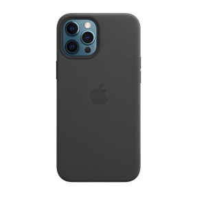 Leather Case High copy with MagSafe iPhone 12 Pro Max Black