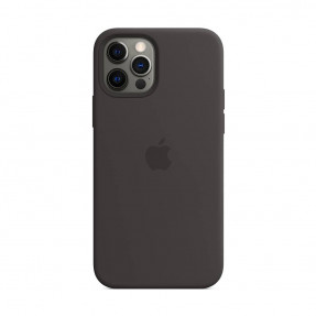Чехол для iPhone 12/12 Pro Silicone Case with MagSafe Black (MHL73)