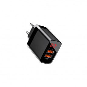 Адаптер живлення Baseus Mirror Lake PPS Digital Display quick Charger Type-C/USB/3A/QC Black