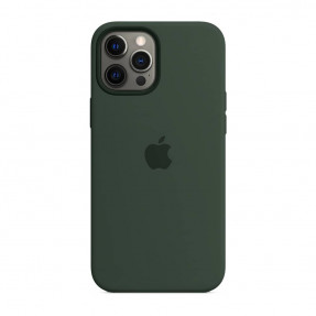 Чехол для iPhone 12 Pro Max Silicone Case with MagSafe Cypress Green (MHLC3)