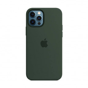 Чехол для iPhone 12/12 Pro Silicone Case with MagSafe Cypress Green (MHL33)