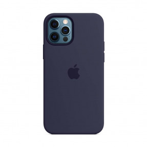 Чехол для iPhone 12/12 Pro Silicone Case with MagSafe Deep Navy (MHL43)