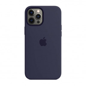 Чехол для iPhone 12 Pro Max Silicone Case with MagSafe Deep Navy (MHLD3)