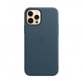 Чехол для iPhone 12/12 Pro Leather Case with MagSafe Baltic Blue (MHKE3)