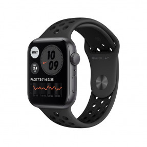 Apple Watch Nike SE 44 mm Space Gray Aluminum Case Sport Band Anthracite/Black