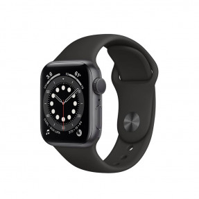 Apple Watch S6 40 mm Space Gray Aluminum Case Sport Band Black