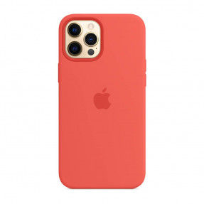 Чехол для iPhone 12 Pro Max Silicone Case with MagSafe Pink Citrus (MHL93)