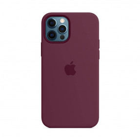 Чехол для iPhone 12/12 Pro Silicone Case with MagSafe Plum (MHL23)