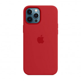 Чехол для iPhone 12 Pro Max Silicone Case with MagSafe Product Red (MHLF3)