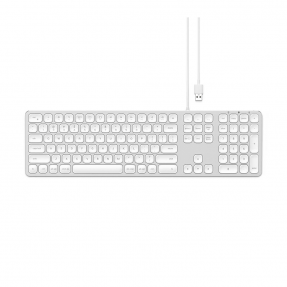 Клавиатура Satechi Aluminum USB Wired Keyboard Silver US (ST-AMWKS)