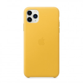 iPhone 11 Pro Max Leather Case Meyer Lemon (MX0A2)