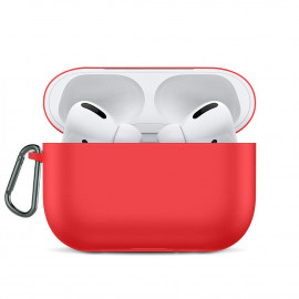 Silicone Ultra Thin Case для AirPods Pro with hook Red