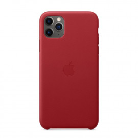 11 Pro Max Leather Case Red (MX0F2)
