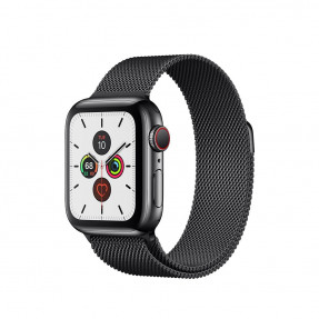 Apple Watch S5 40 mm Space Black Stainless Steel Case with Milanese Loop