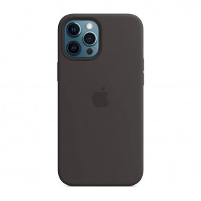 Чехол для iPhone 12 Pro Max Leather Case with MagSafe Black (MHKM3)