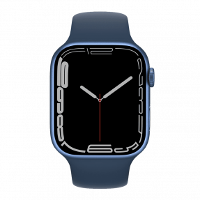 Apple Watch S7 45 mm Blue Aluminum Case with Sport Band