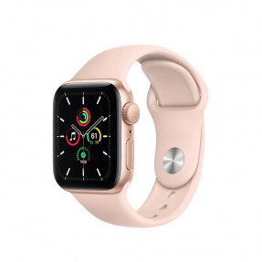 Apple Watch SE 40 mm Gold Aluminum Case Sport Band Pink Sand