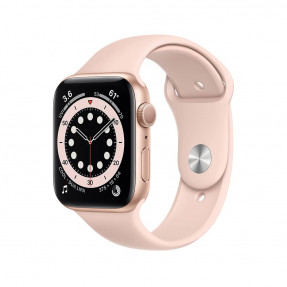Apple Watch S6 44 mm Gold Aluminum Case Sport Band Pink Sand