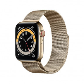 Apple Watch S6 44 mm Gold Stainless Steel Case with Milanese Loop Gold
