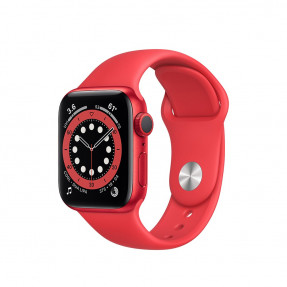 Apple Watch S6 40 mm (PRODUCT)RED Aluminum Case Sport Band (PRODUCT)RED