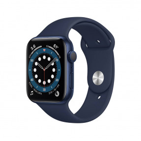 Apple Watch S6 44 mm Blue Aluminum Case Sport Band Deep Navy