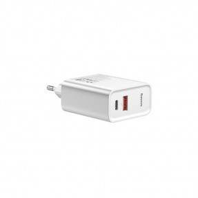 Baseus Speed USB+Type-C QC 30W with USB-C Cable White